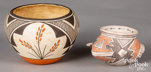 Two Laguna Indian Pueblo pottery bowls