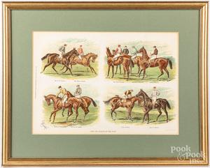 Five horse theme prints, largest - 15