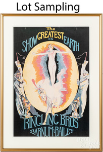 Ten reproduction Barnum and Bailey circus posters