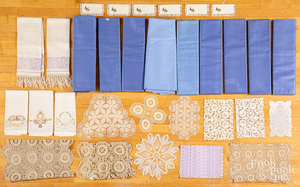 Textiles, to include Belgian blue damascene patte