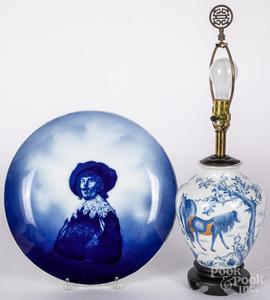 Delft porcelain Rembrandt charger, 15