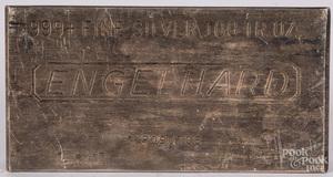 Engelhard 100 ozt fine silver bar.