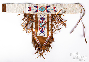 Native American Indian beadwork and leather choke