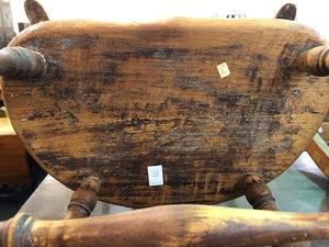 Child's press back oak rocking chair