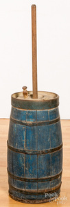 Painted butter churn