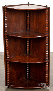 Mahogany hanging corner cabinet