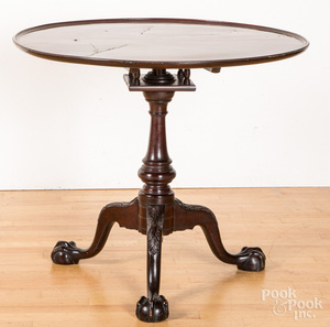 Centennial Chippendale carved mahogany tea table