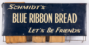 Schmidt's Blue Ribbon Bread tin bag holder