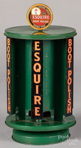 Esquire Boot Polish tin store display
