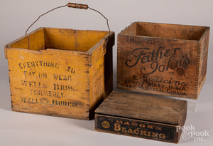 Wooden advertising boxes