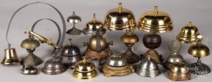 Collection of nineteen counter top and door bells