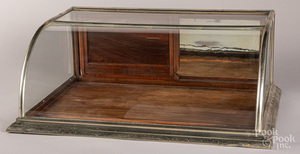 Nickel clad country store counter top showcase