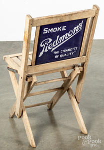 Smoke Piedmont Cigarette advertising folding chair