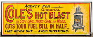Large canvas Cole's coal advertising poster