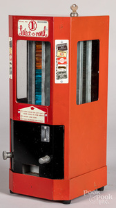 Coin operated penny candy vending machine