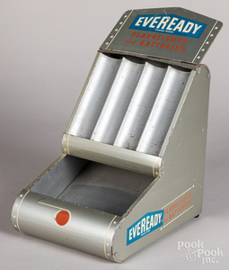 Eveready Flashlight and Battery tin store display