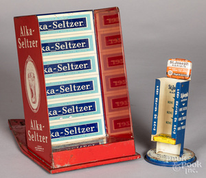 Alka-Seltzer tin lithograph store display