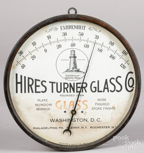Hires Turner Glass Co. advertising thermometer