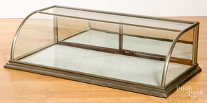 Country store nickel clad counter top showcase