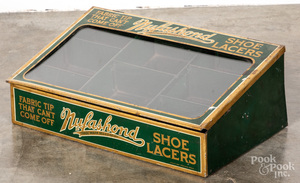 Nylashond tcountry store shoelace display case