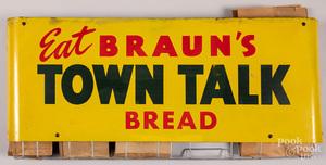 Braun's Town Talk Bread tin lithograph bag holder
