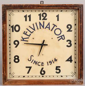 Kelvinator advertising wall clock