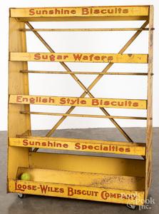 Sunshine Biscuit tin store display shelf