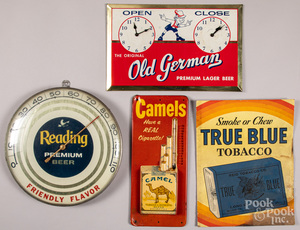 Group of miscellaneous advertising signs