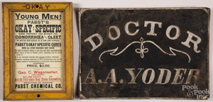 Pabst Chemical Co. advertising medical broadside