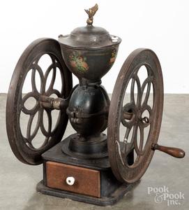 Enterprise cast iron coffee mill, late 19th c.