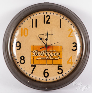 General Electric Dr. Pepper advertising wall clock