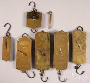 Seven brass face Chatillon's scales