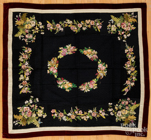 Victorian embroidered youth quilt