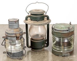 Three early lanterns by Davey London
