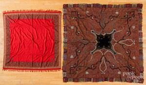 Kashmir paisley shawl and blanket