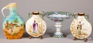 Porcelain pitcher, etc.