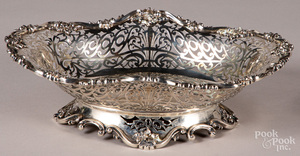 Sterling silver reticulated basket