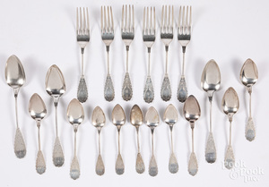 Coin silver forks and spoons