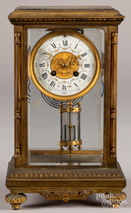 French Japy Freres crystal regulator clock