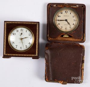 Tiffany & Co. traveling clock, etc.