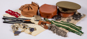 Horstmann military hat and accessories.