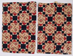 Pair of patchwork pillow shams