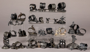 Collection of silver plated napkin rings