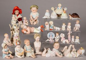Collection of bisque figures