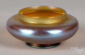 Tiffany favrile glass bowl, etc.