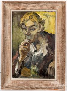 Arnold Hoffmann, oil on canvas portrait