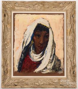 Arnold Hoffmann, oil on board portrait