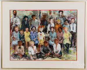 Ted Jaslow, mixed media group portrait