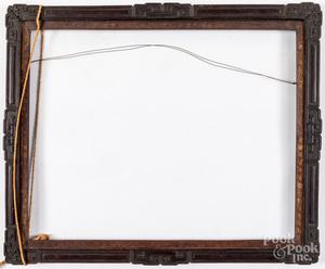 Chinese carved hardwood frame