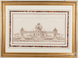 Three French architectural prints